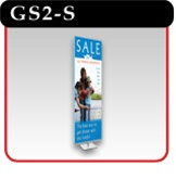 "Gripgraphics Banner Display Stand - 24"" - Silver"