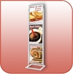 Three Tiered Poster and Sign Stand - Silver - #L3328-S