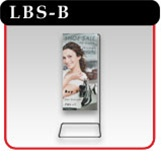 Showroom Banner Stand - Black - #LBS-B