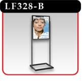 Poster Sign Stand with rectangular uprights - Black -#LF328-B
