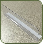 "Thin divider 1"" x 3.5"" with radius edges"