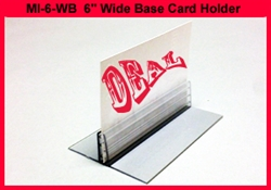"6"" Wide Base Card Holder w/o Adhesive Quantities of 10"