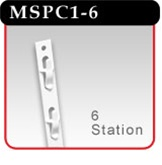 6-Station Plastic Merchandising Strip -#MSPC1-6
