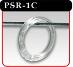 "1"" Plastic Snap Rings - Clear"