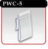 "Power Wing Clip - Clear Polypropylene, 1-""w x 2-""h -#PWC-5"