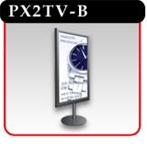 "Table top Sign Stand - 11""w x 14""h - Black -#PX2TV-B"
