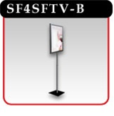 "Telescoping Sign Stand - 11""w x 14""h - Black -#SF4SFTV-B"