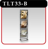 3 Panel Tilting Sign Stand - Black -#TLT33-B