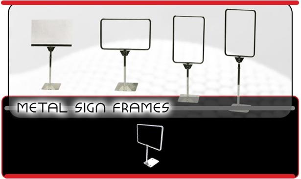 merchandising metal sign frames - Metal Sign Frames